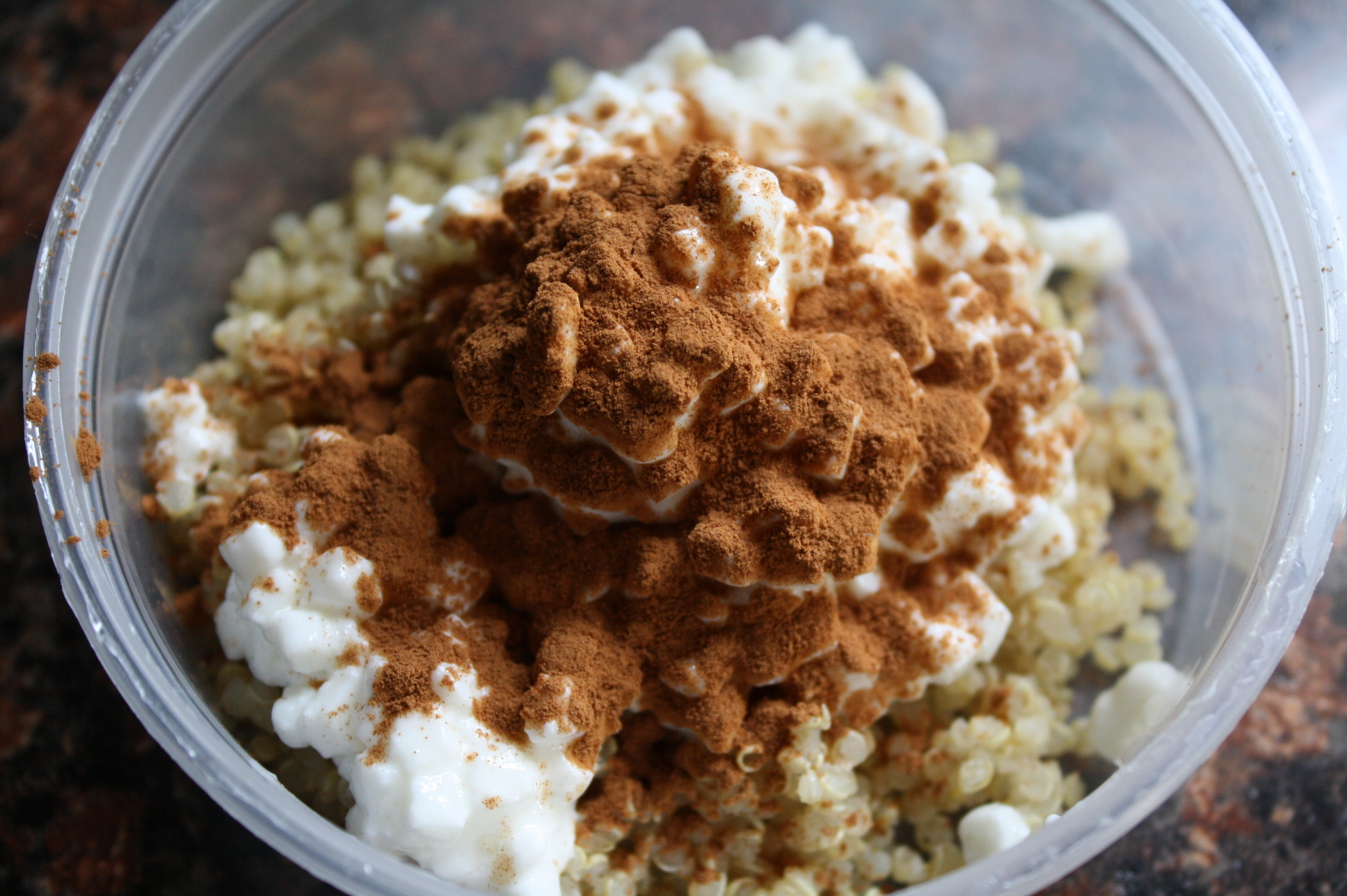 cottage cheese with cinnamon